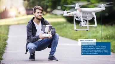 Bosch predstavuje na CES 2018 vysoko výkonnú IMU na využitie v dronoch a robotike
