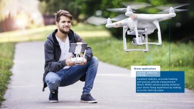 MEMS senzor BMI088 výrazně vylepšuje letové schopnosti dronů