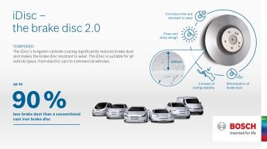 iDisc od společnosti Bosch pomáhá zmírnit problém s emisemi částic ve městech