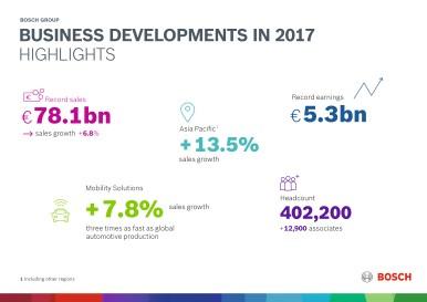Výsledky za rok 2017 podle obchodních oblastí