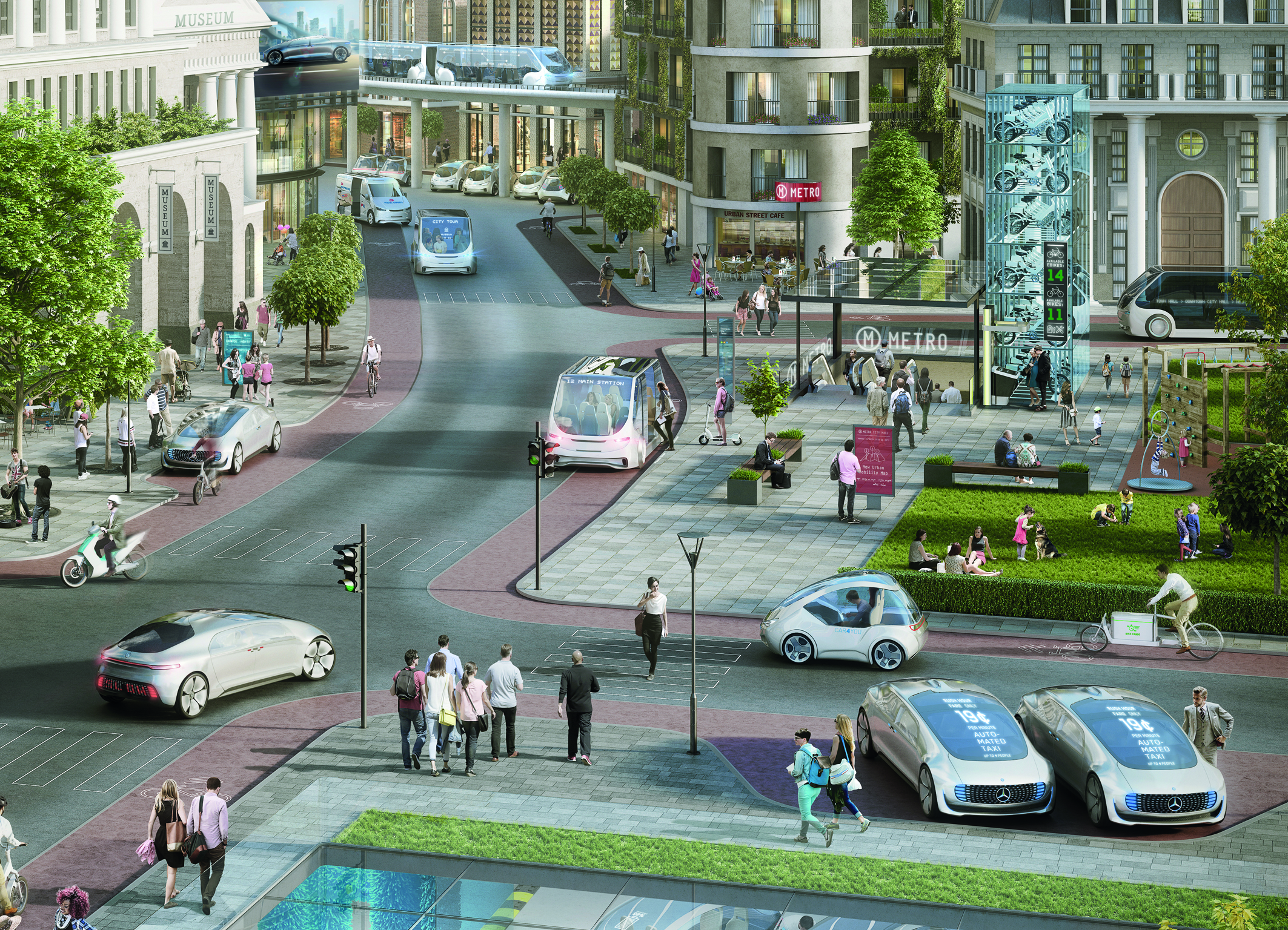 Mobilità del futuro - Bosch e Daimler stanno lavorando insieme su un sistema di guida completamente autonomo