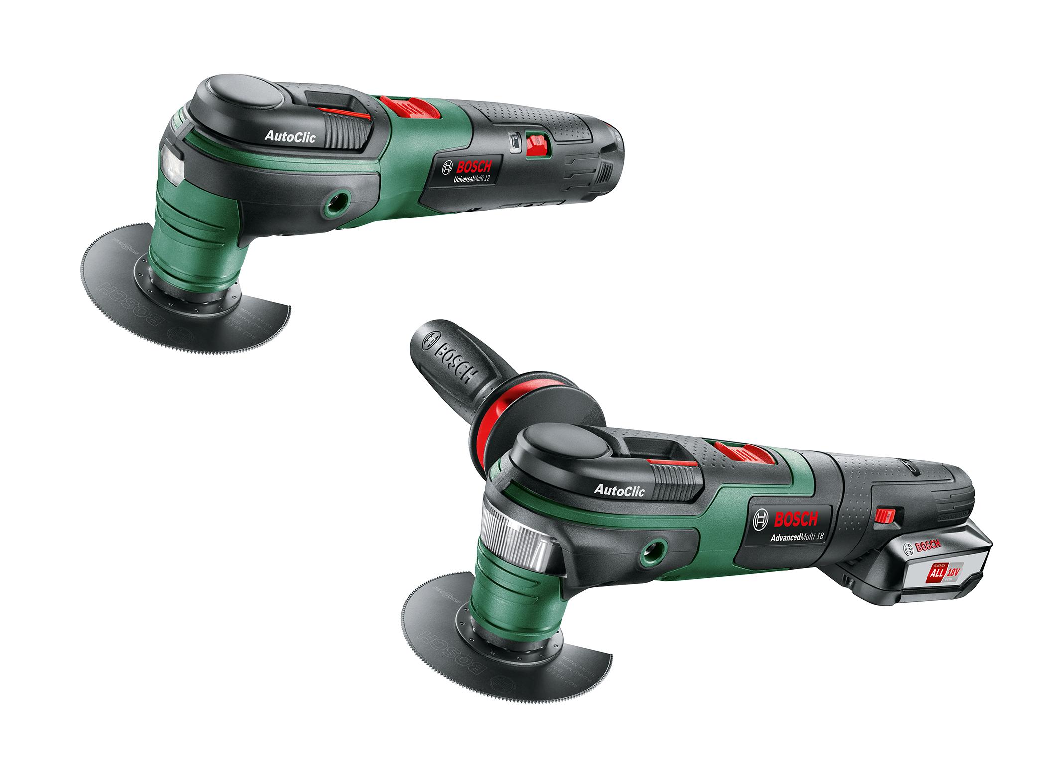 Utensili versatili e flessibili da 18 e 12 volt: utensili multifunzione Bosch a batteria per il fai-da-te