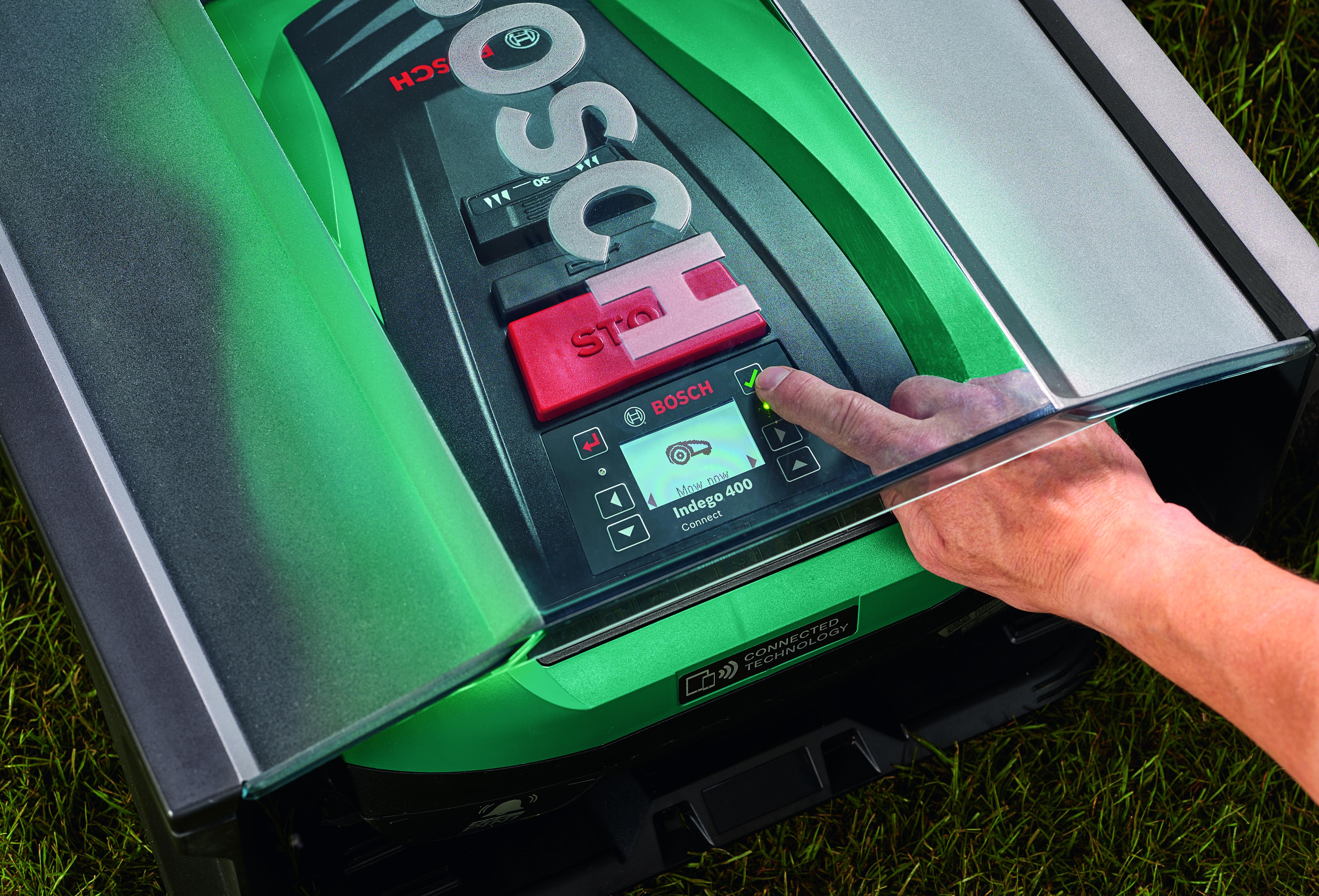 Robot rasaerba compatti e silenziosi:  Bosch Indego 350 e Indego 350 Connect