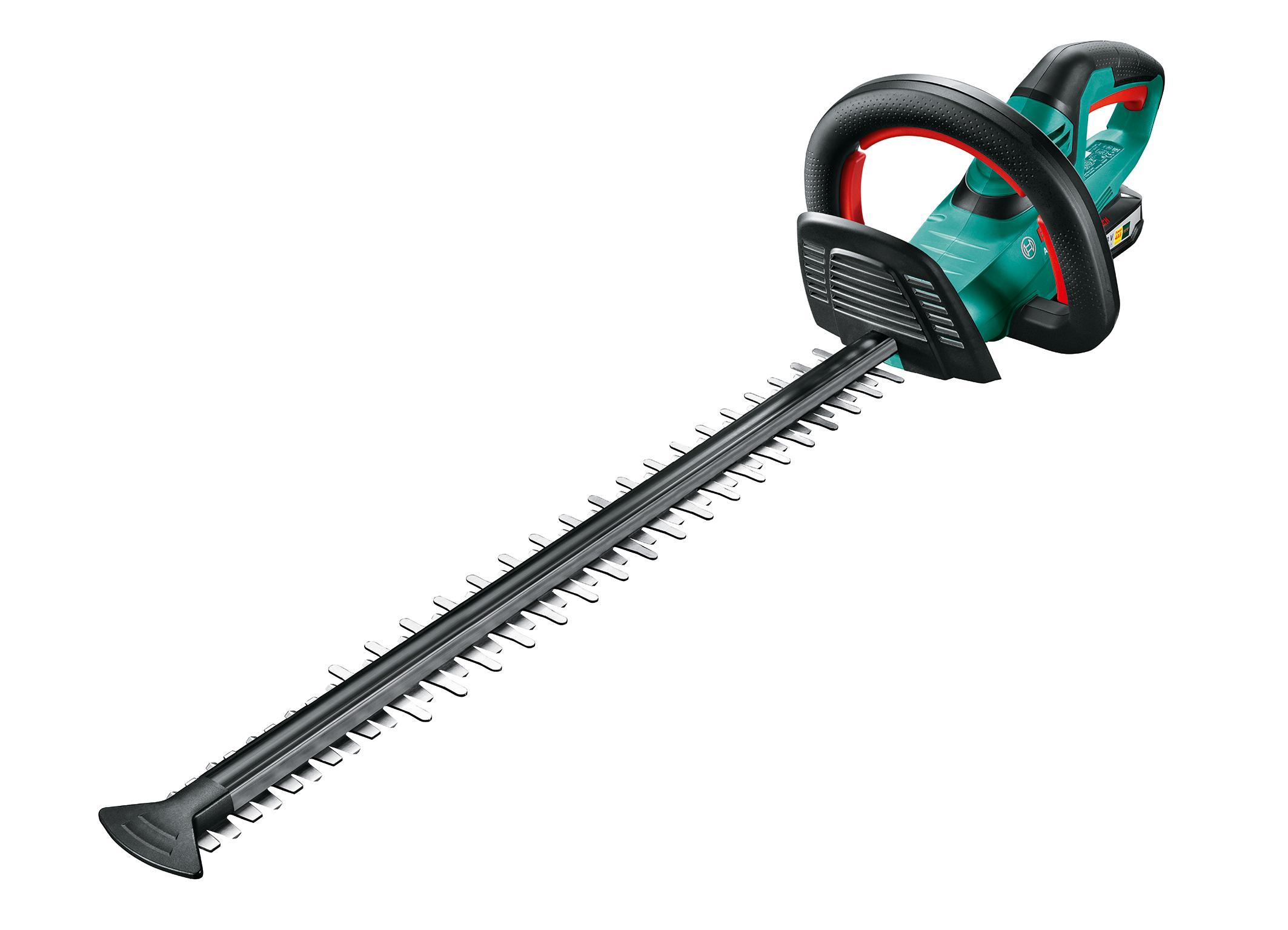 """""""Tecnologia Quick-Cut"""" per rilevare i rami già al primo taglio, per poi tagliarli con precisione: il nuovo tagliasiepi da 18 V di Bosch"""