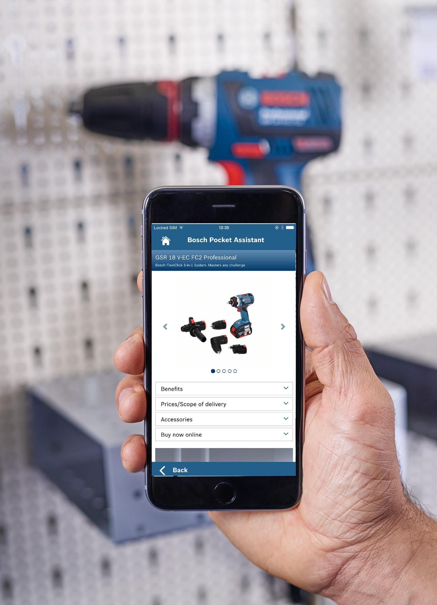 Bosch Pocket Assistant - sistema di riconoscimento prodotti per professionisti