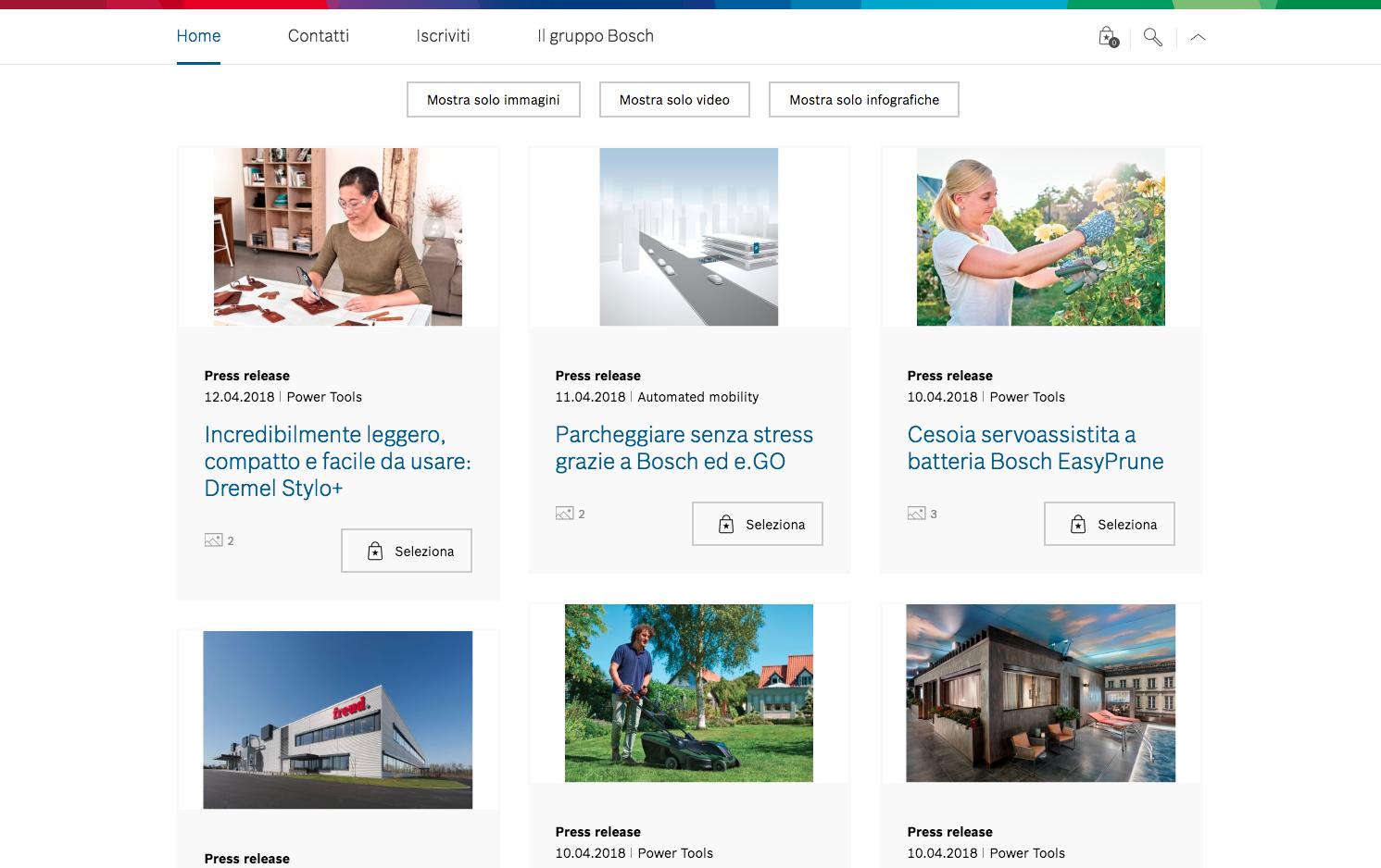 Bosch Italia rinnova i suoi canali di comunicazione