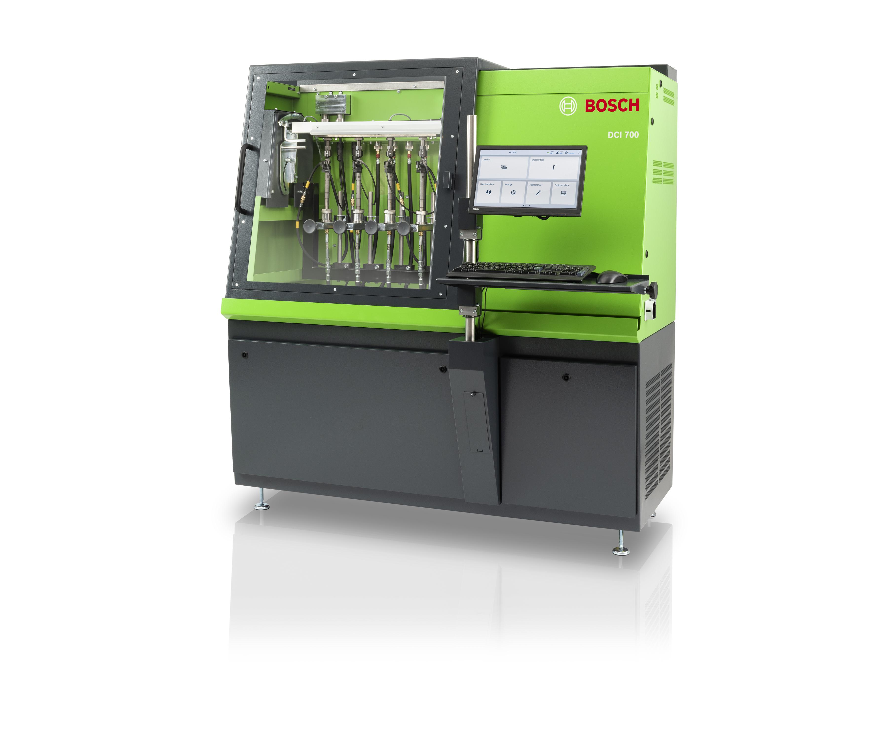 Banco prova diesel Bosch DCI 700 adeguato alle esigenze future grazie al nuovo sistema di misurazione per le più recenti tecnologie di iniettori