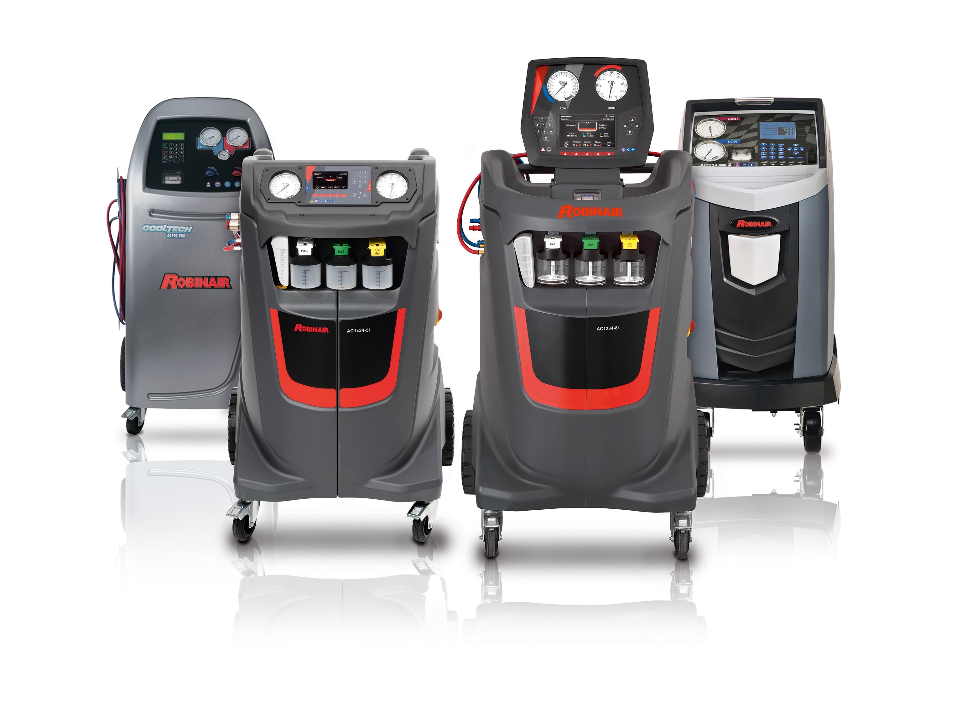Robinair, specialista dei servizi di climatizzazione, presenta un'ampia gamma che va dalle unità di servizio entry-level alla fascia alta di gamma