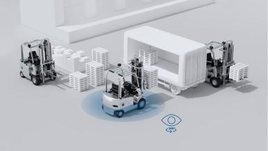 Bosch rende più sicura la guida dei carrelli elevatori