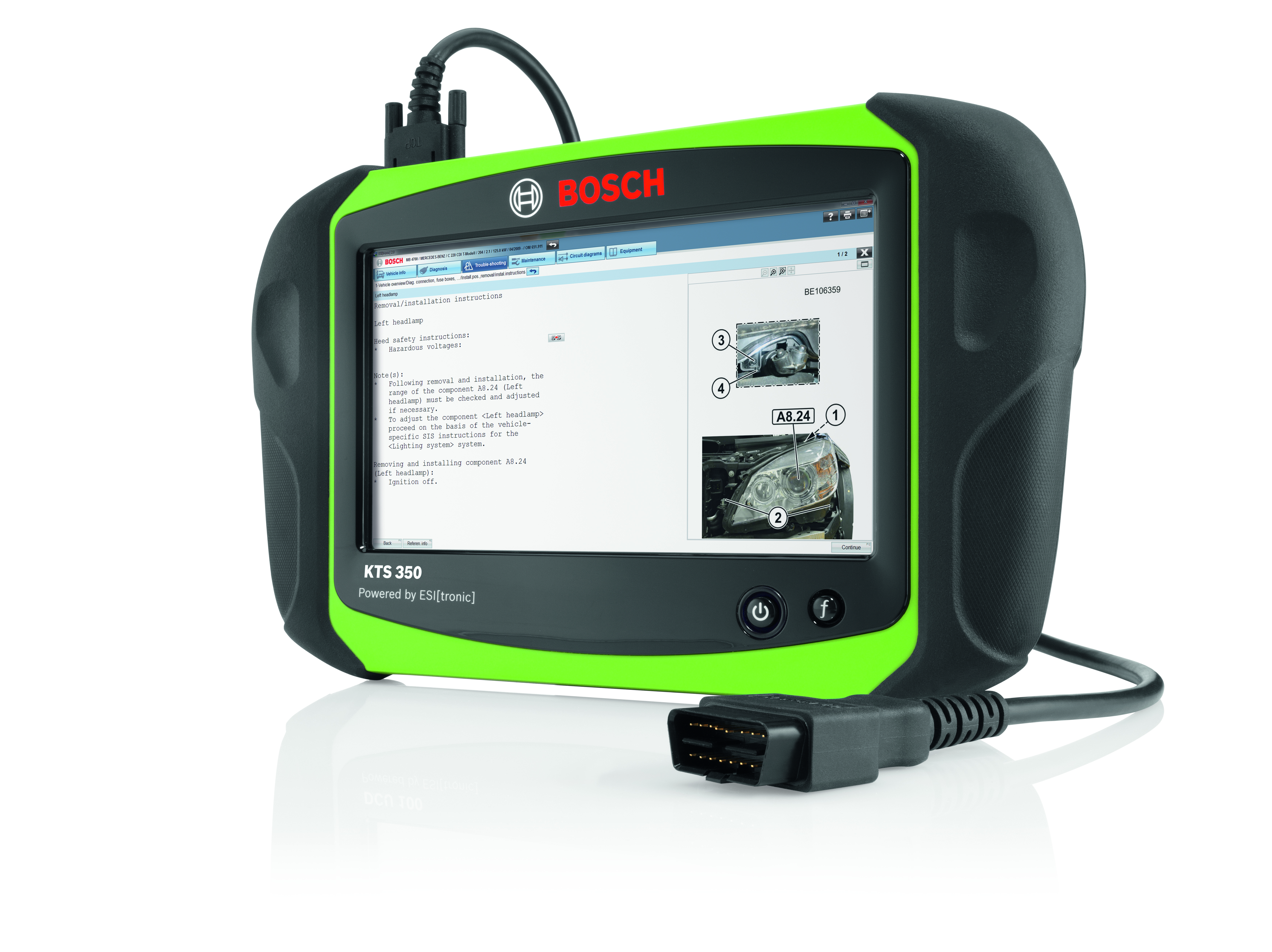 Bosch Esitronic consente alle officine di eseguire l'assistenza completa sui veicoli Mercedes-Benz con accesso protetto