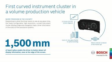 Bosch realizza il primo quadro strumenti curvilineo al mondo