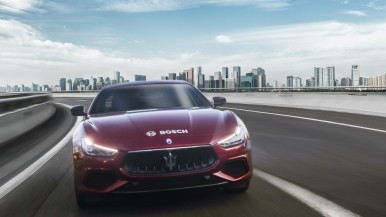The new Bosch highway assist system installed on the Maserati 2018 range