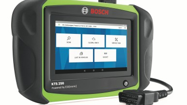 Nieuwe, compacte diagnosetester KTS 250 van Bosch voor mobiele en snelle stuurapparaatdiagnose