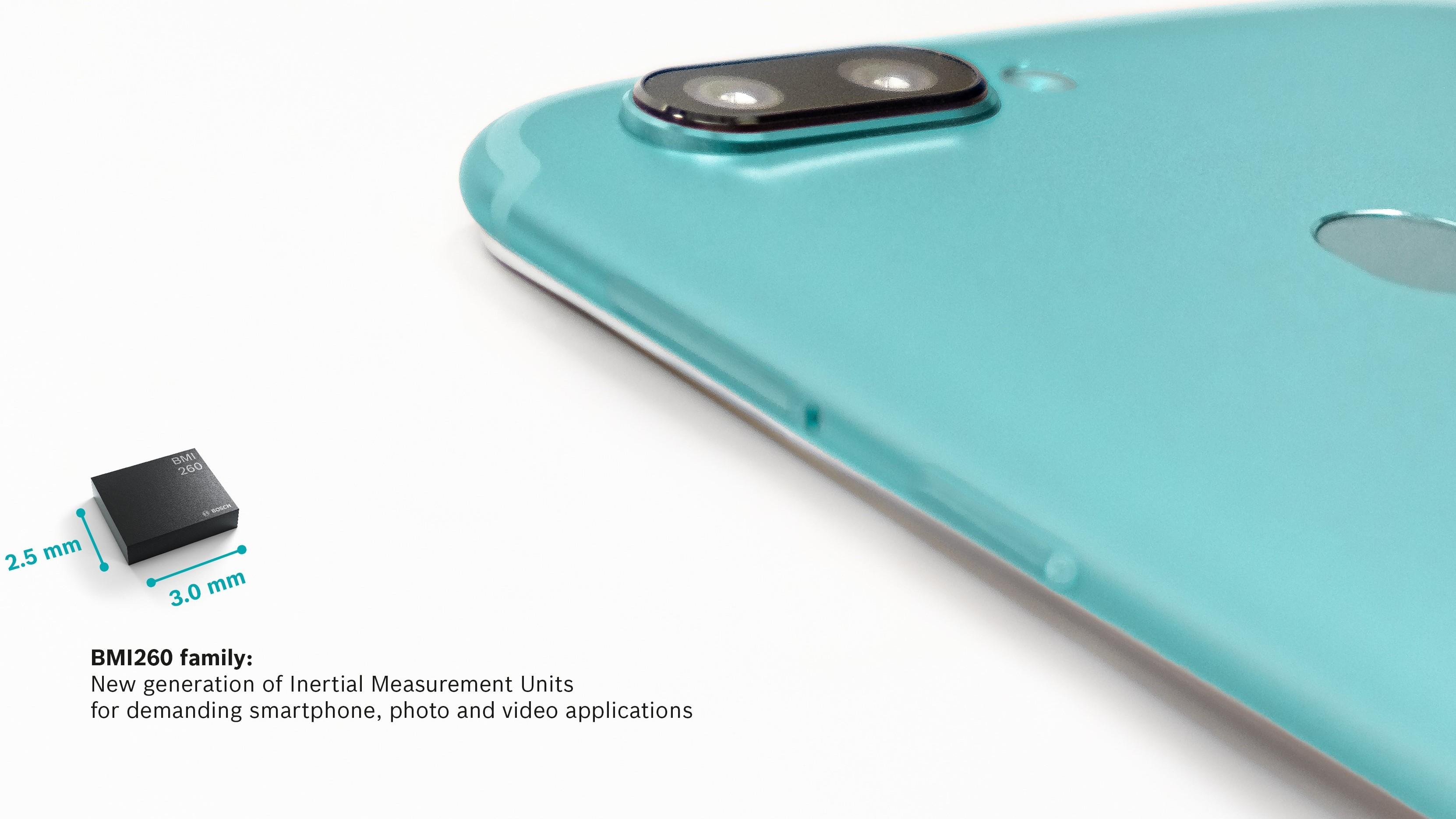 Bosch lanceert de BMI260-familie: een nieuwe generatie IMU's geoptimaliseerd voor smartphoneapplicaties