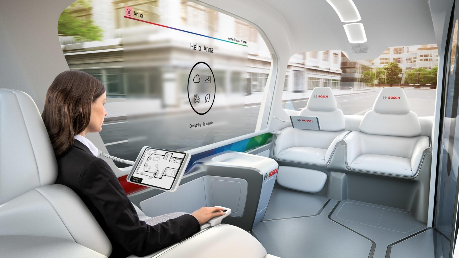 Wereldprimeur op CES: Bosch stelt de conceptshuttle voor
