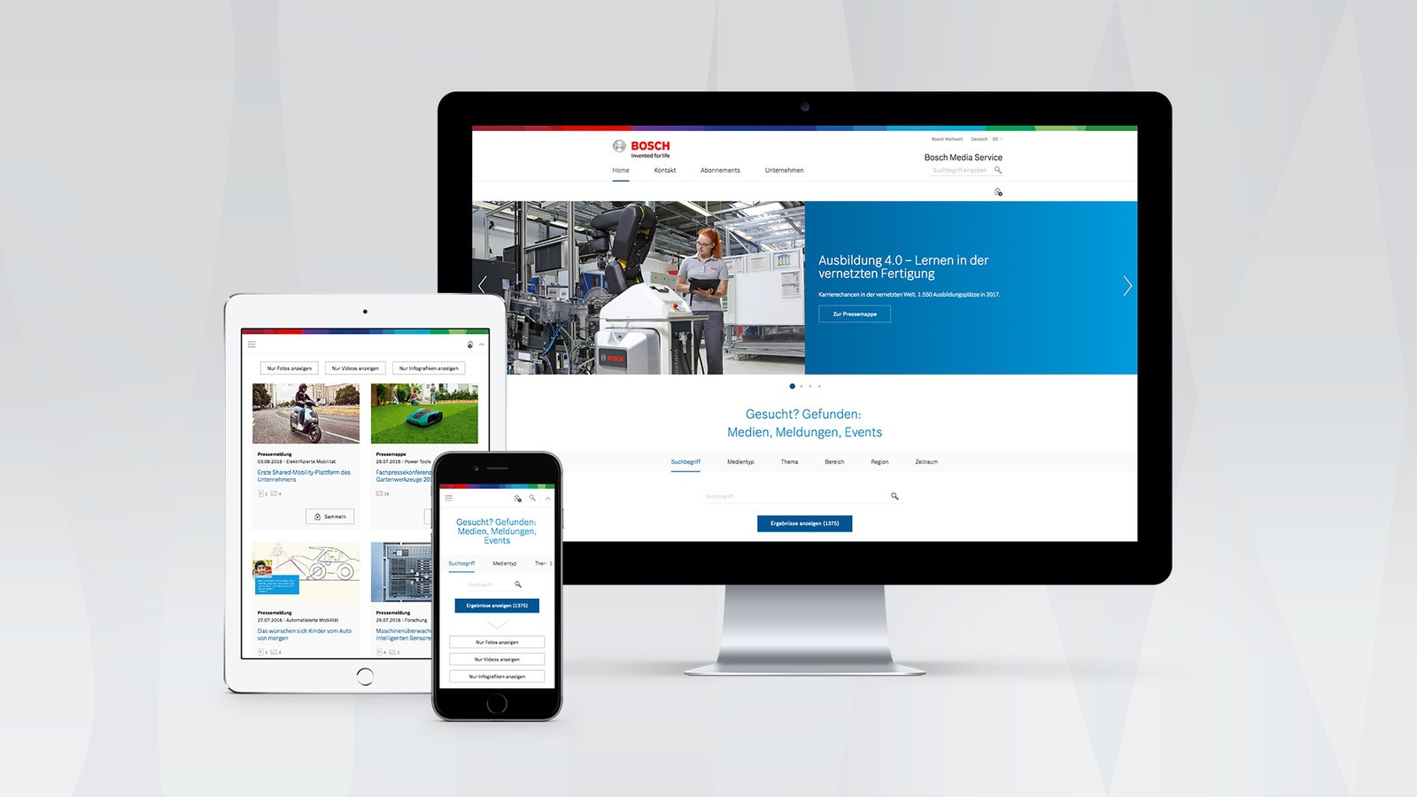 Nieuwe online Bosch Media Service