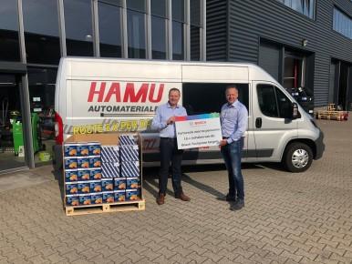 Hans Mulder, directeur HAMU Holding en Han Overweg, Account Manager Robert Bosch Nederland.