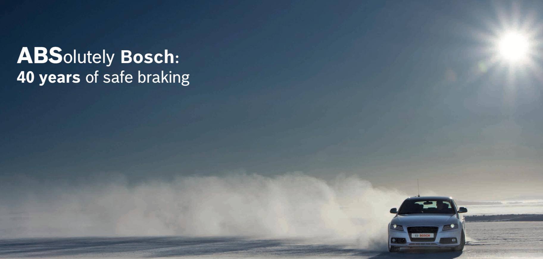 Bosch viert 40 jaar ABS