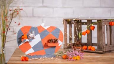 Stylowy stojak w kształcie dyni