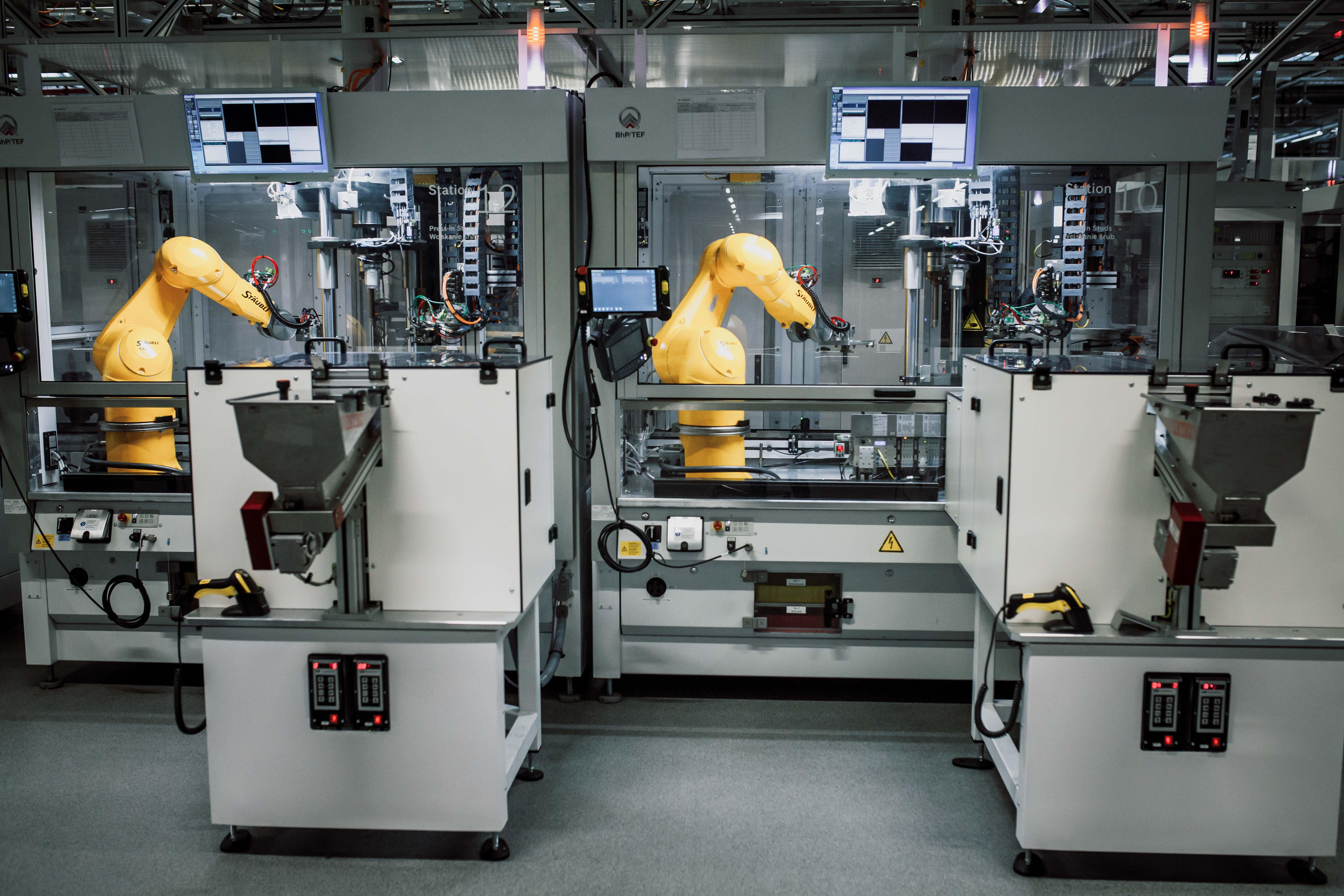 Linia produkcyjna iBooster 2 fabryka Bosch w Mirkowie pod Wrocławiem
