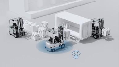 Bosch podnosi bezpieczeństwo jazdy wózkami widłowymi