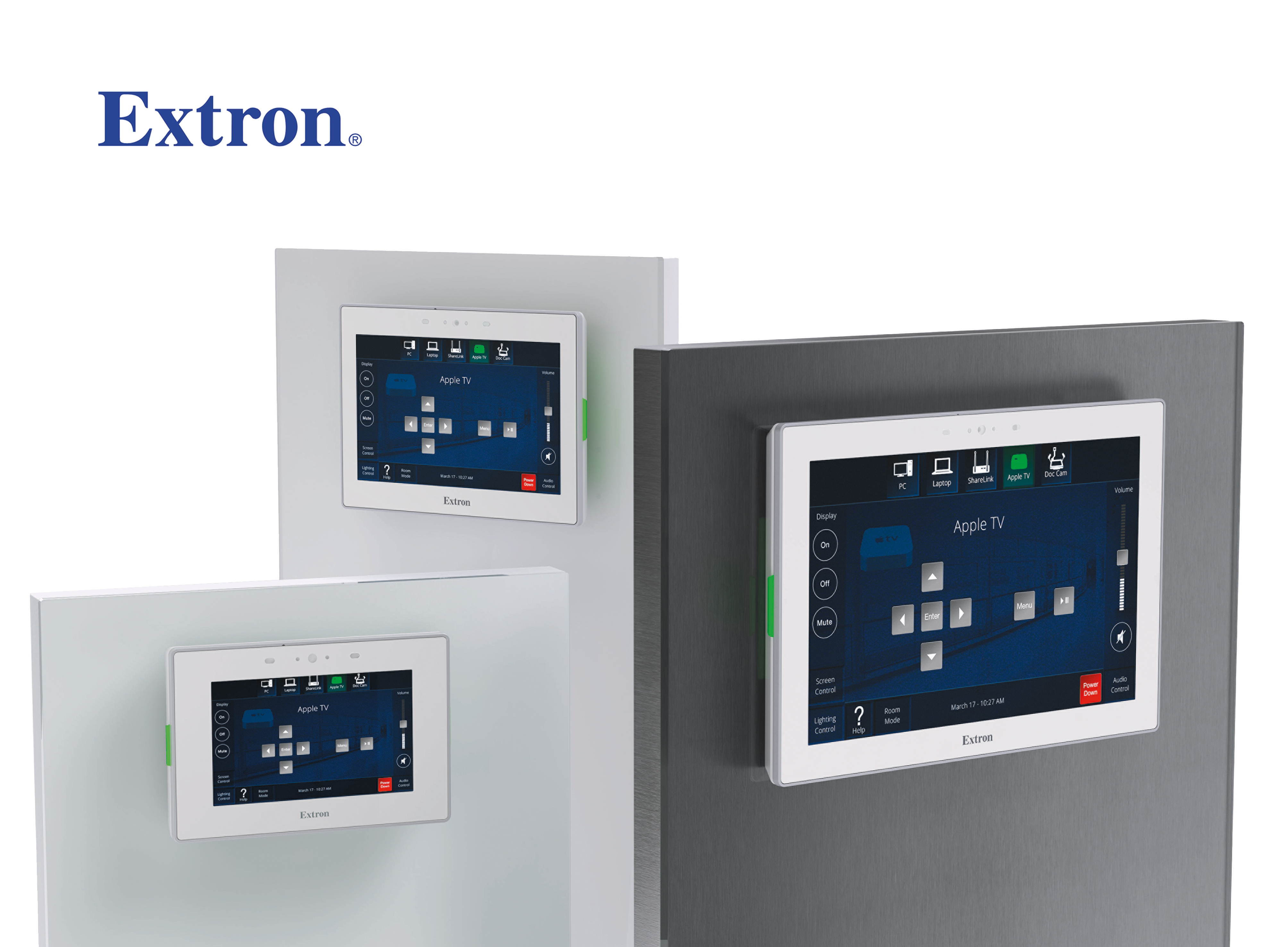 Extron touch pads