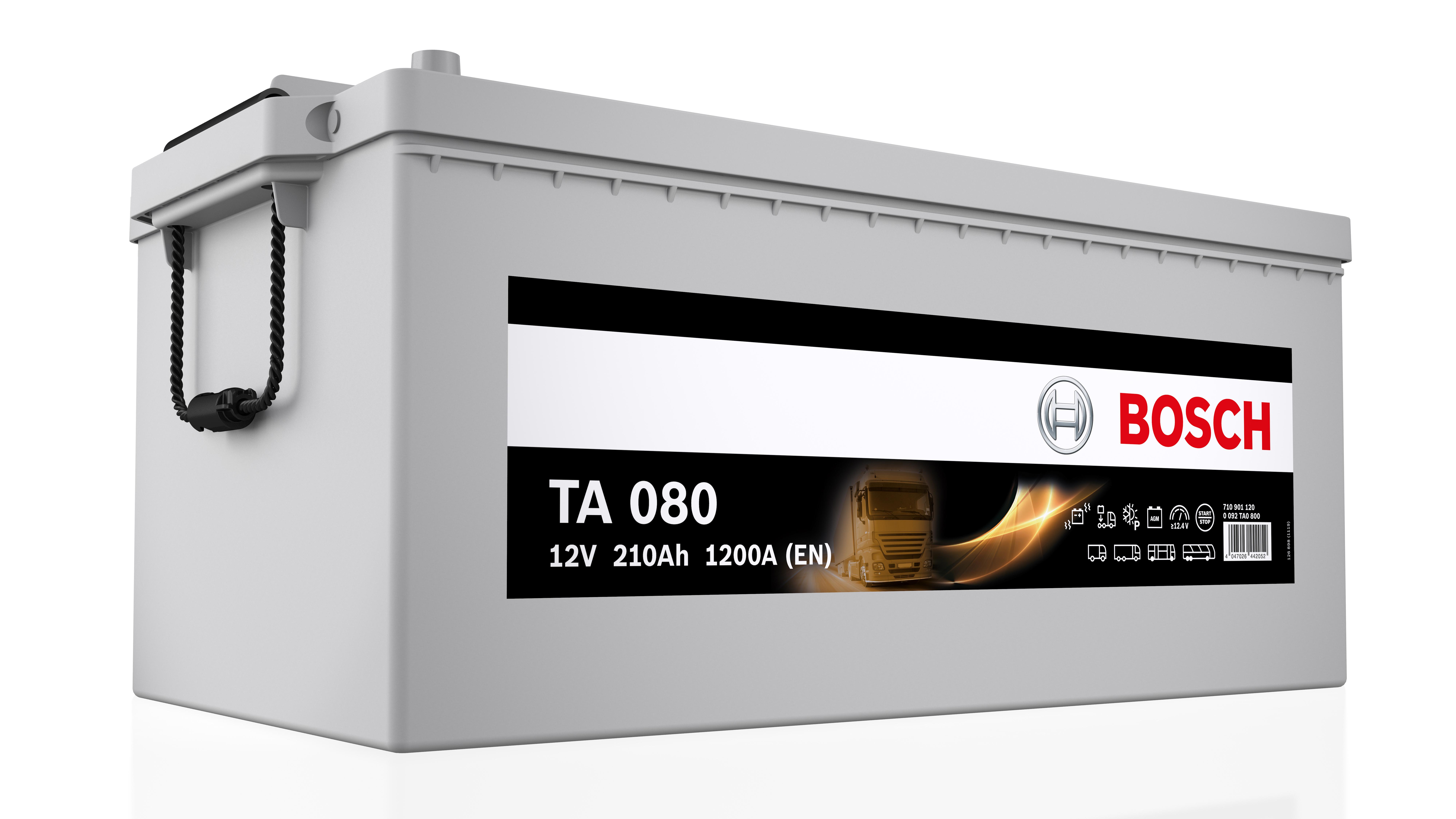 Akumulator Bosch TA AGM do pojazdów użytkowych.