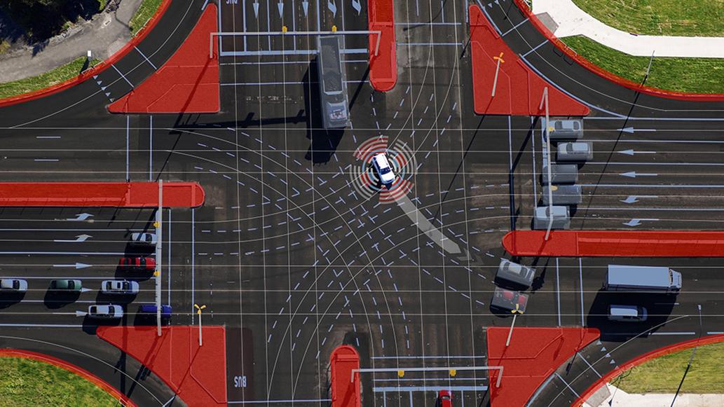 Podłączone do sieci czujniki infrastruktury sprawią, że zautomatyzowana jazda będzie bezpieczniejsza i bardziej efektywna.
