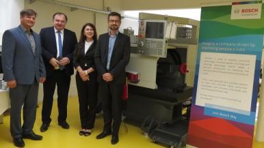 """Fabrica Bosch din Blaj a echipat un laborator dedicat pregătirii tehnice a studenților"""""""