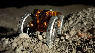 Intelligent Navigation and Wireless Charging for Mini Robots on the Moon