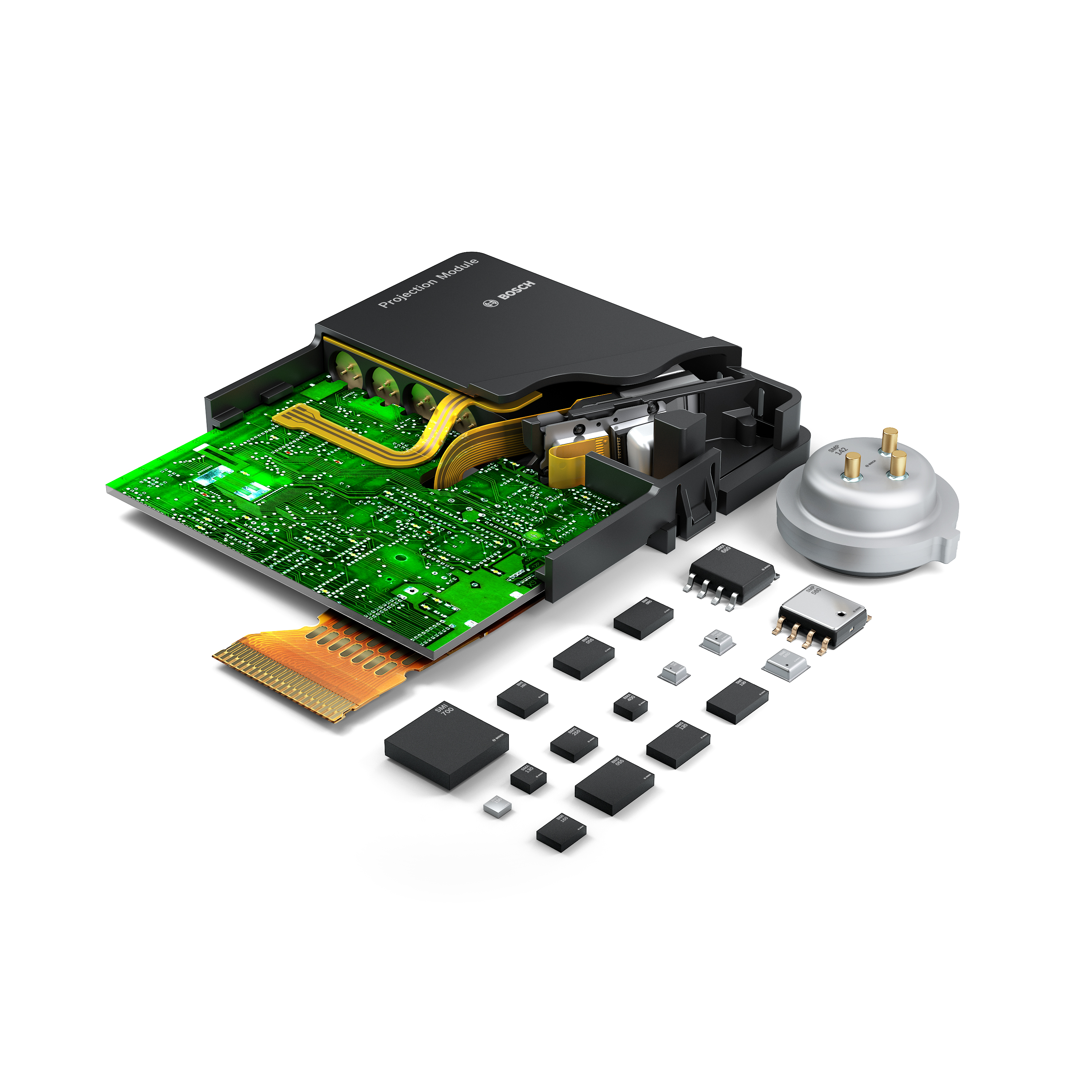 MEMS-Sensors (Micro Electro Mechanical Systems) from Bosch