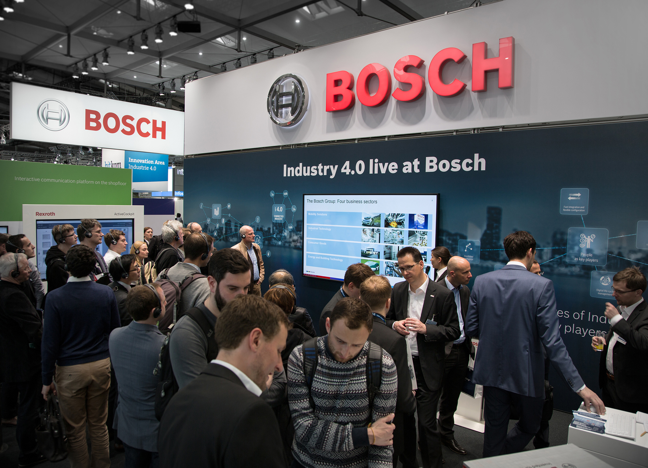 """""""Industry 4.0 live @ Bosch"""" at the Hannover Messe 2016"""