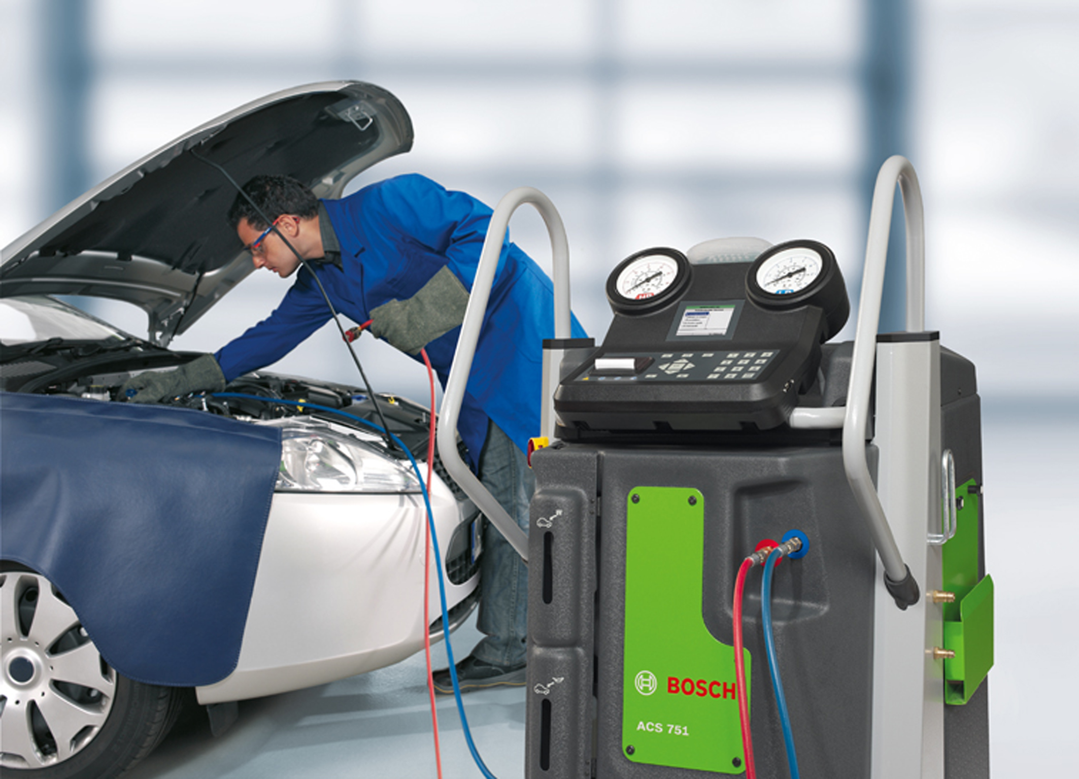 air conditioning machine for cars. bosch has updated its range of air conditioning servicing equipment for units that use the r134a machine cars i