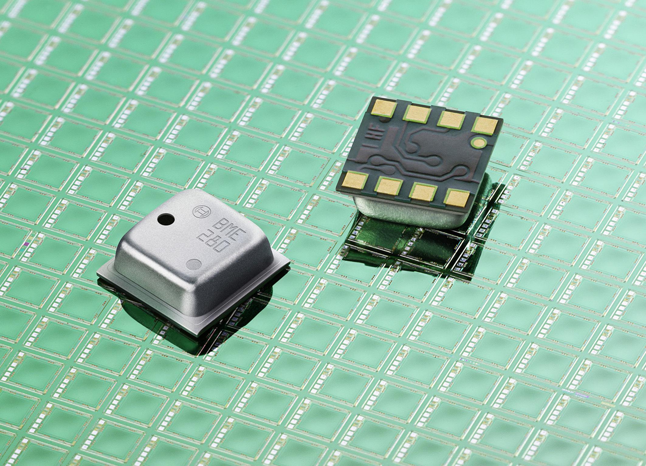 BME280 von Bosch Sensortec kombiniert Messung von Druck, Luftfeuchtigkeit und Temperatur