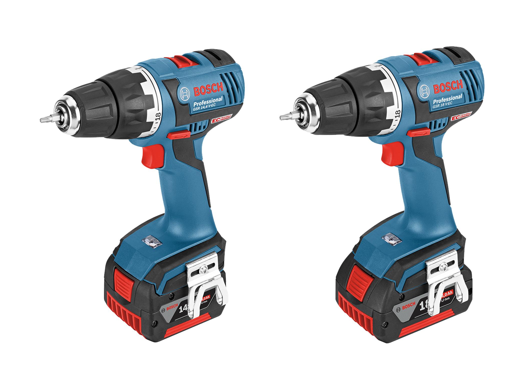 New Bosch drill/driver with EC motor:  GSR 14,4 V-EC Professional and GSR 18 V-EC Professional