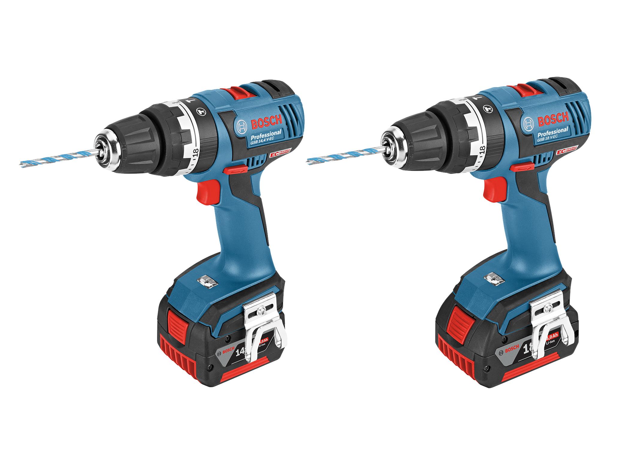 New Bosch screwdriver with EC motor:  GSB 14,4 V-EC Professional and GSB 18 V-EC Professional combis