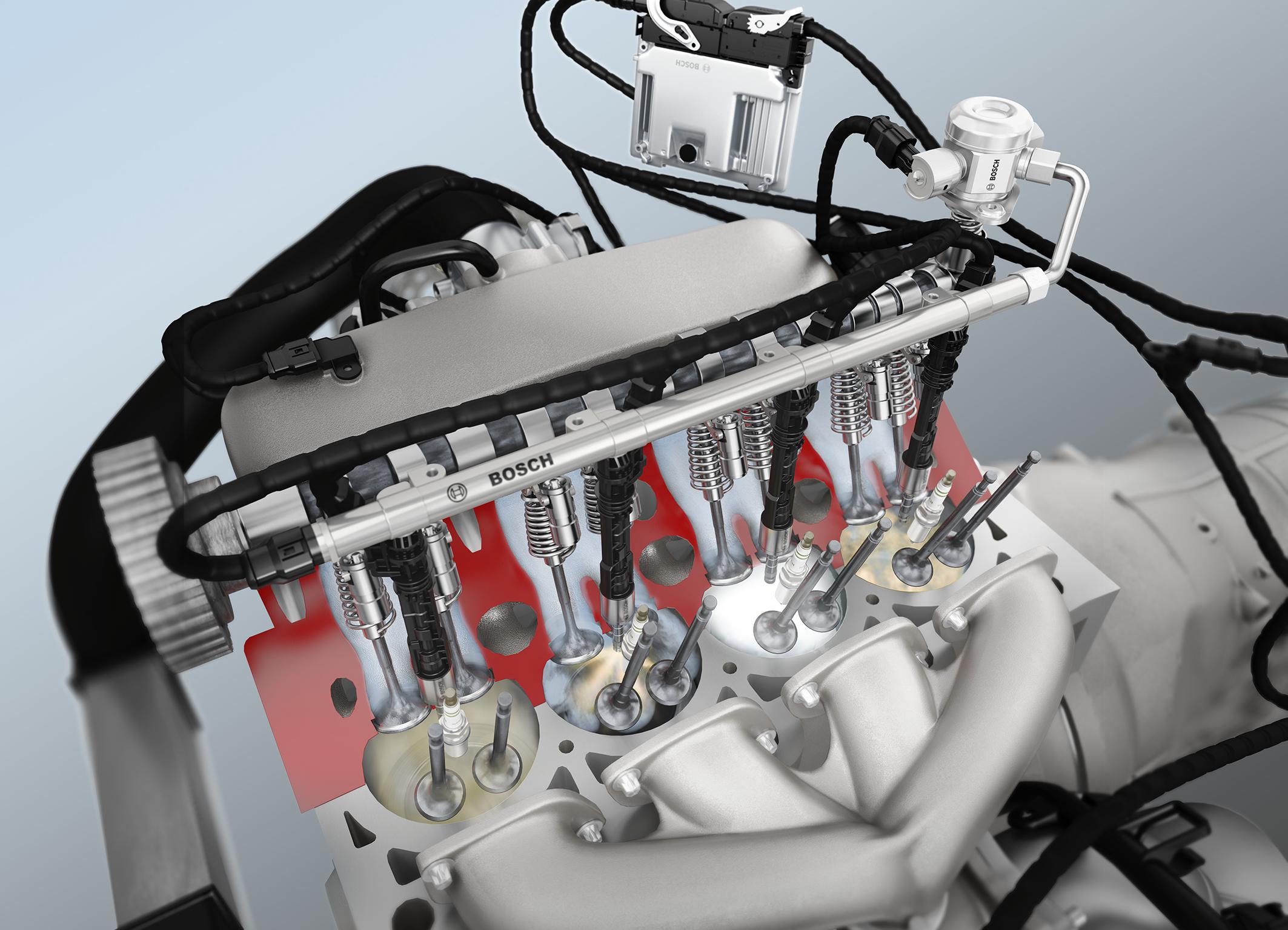 Bosch-Benzin-Direkteinspritzung und Downsizing