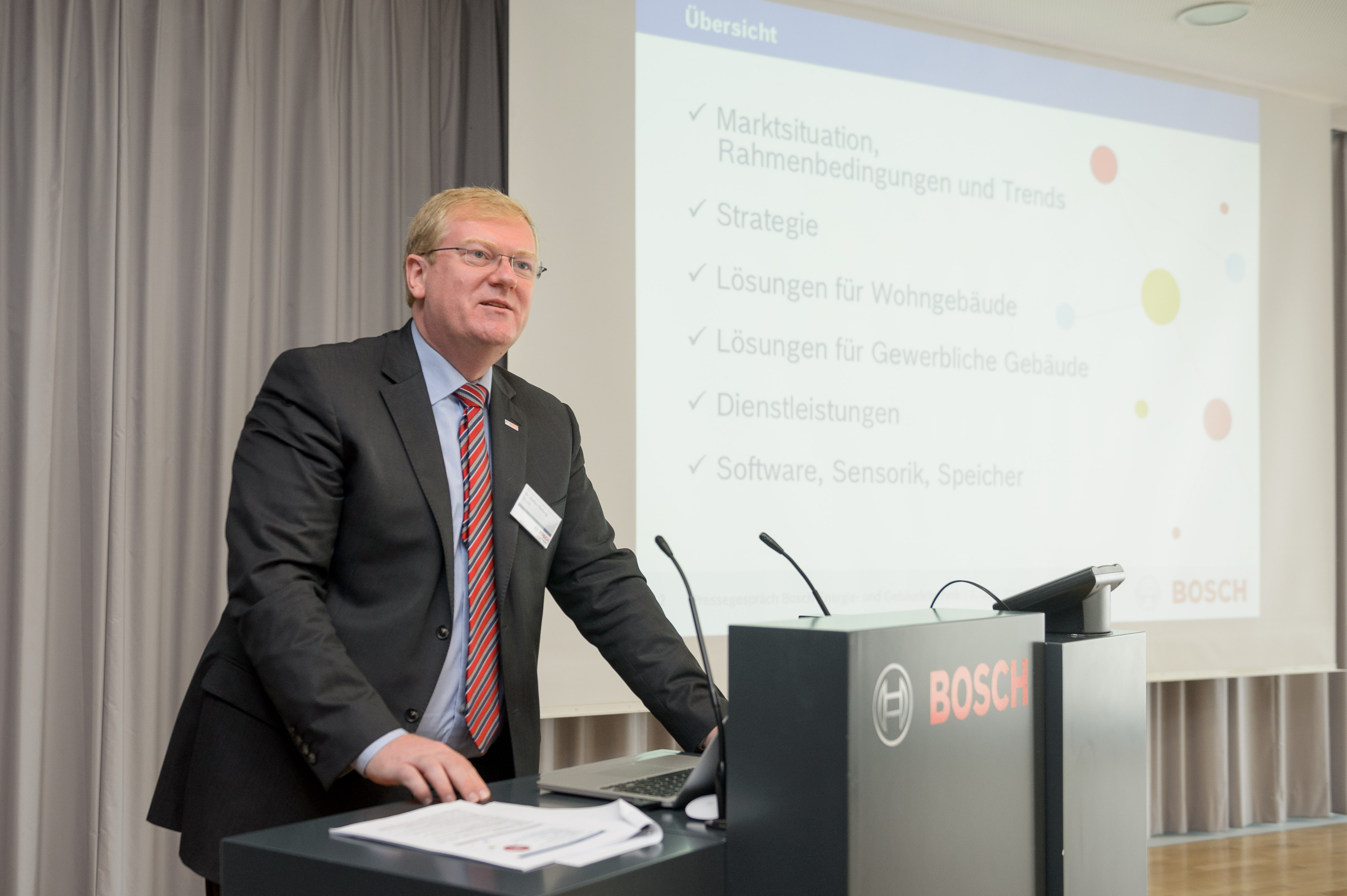 Press Briefing Bosch Energy and Building Technology on June 3, 2014 in Stuttgart (Germany)