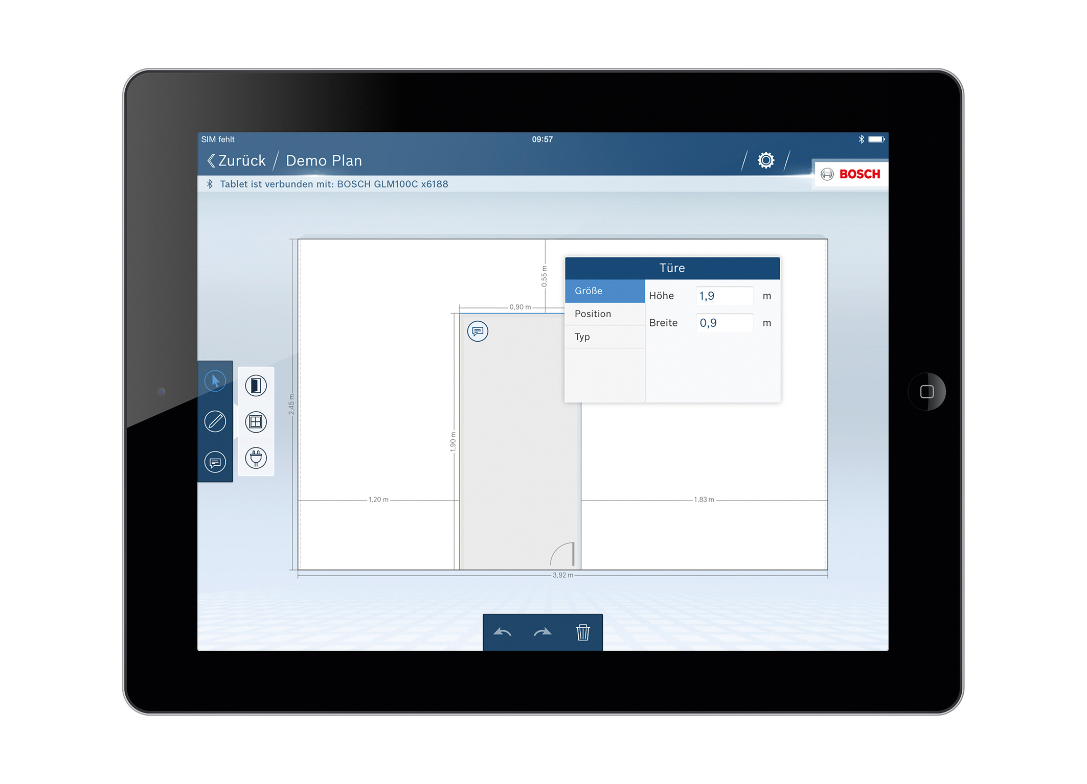 Bosch Entfernungsmesser Software : Die glm floor plan app von bosch für profis media service