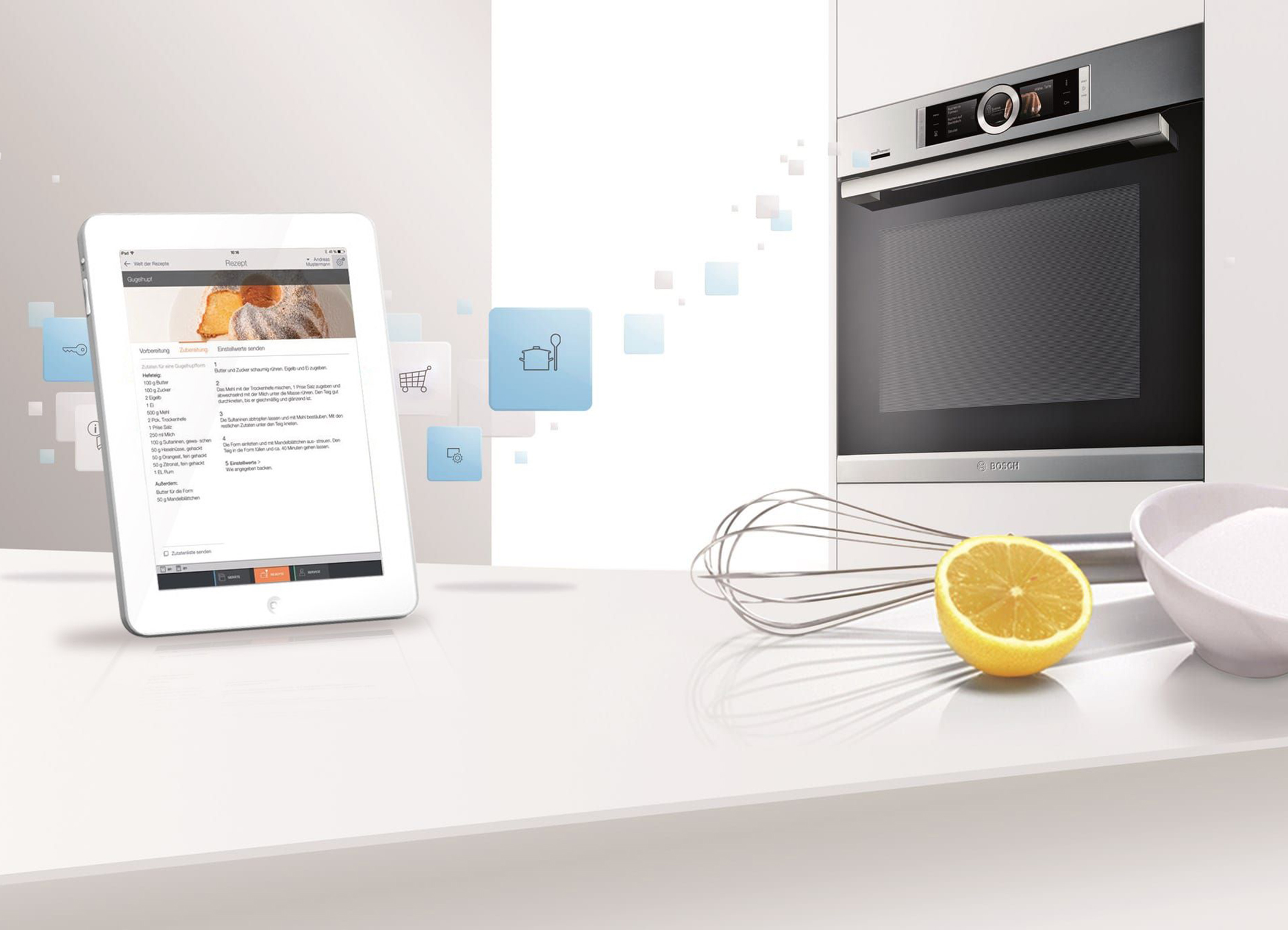 High-tech kitchen: networked home appliances