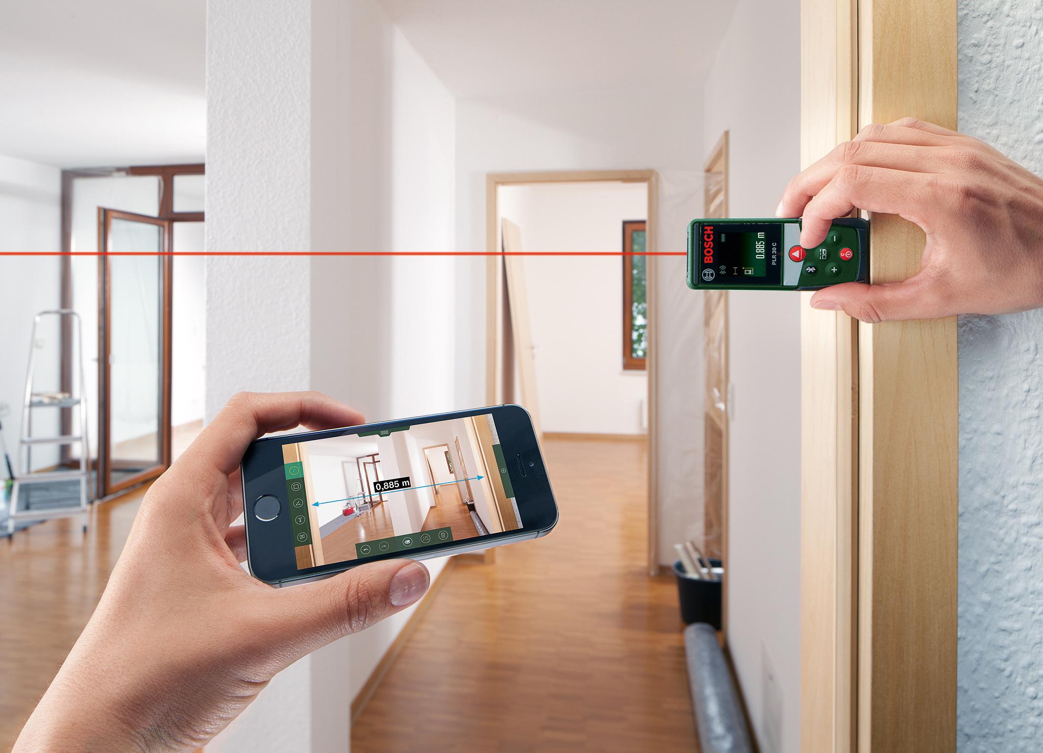 Entfernungsmesser App Für Android : Bosch verbindet messgeräte mit app media service