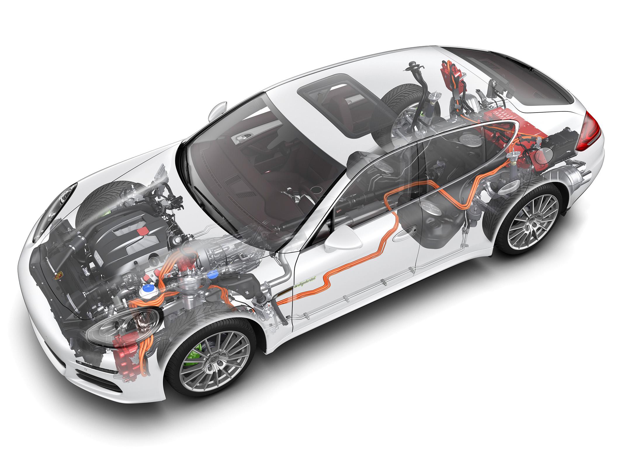 Porsche Panamera S E-Hybrid: Phantom graphic