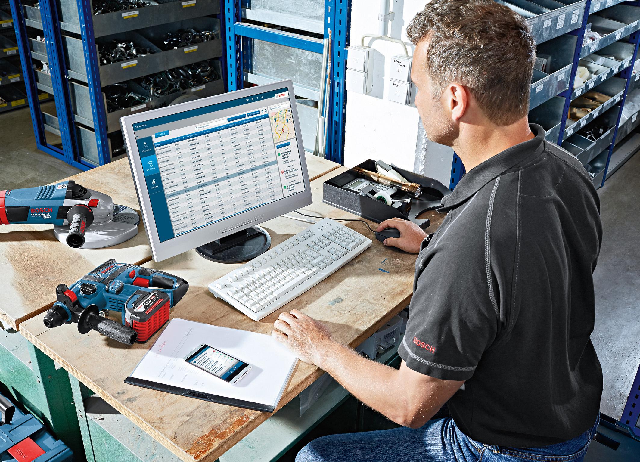 Bosch Entfernungsmesser Software : Trackmytools von bosch für profis media service
