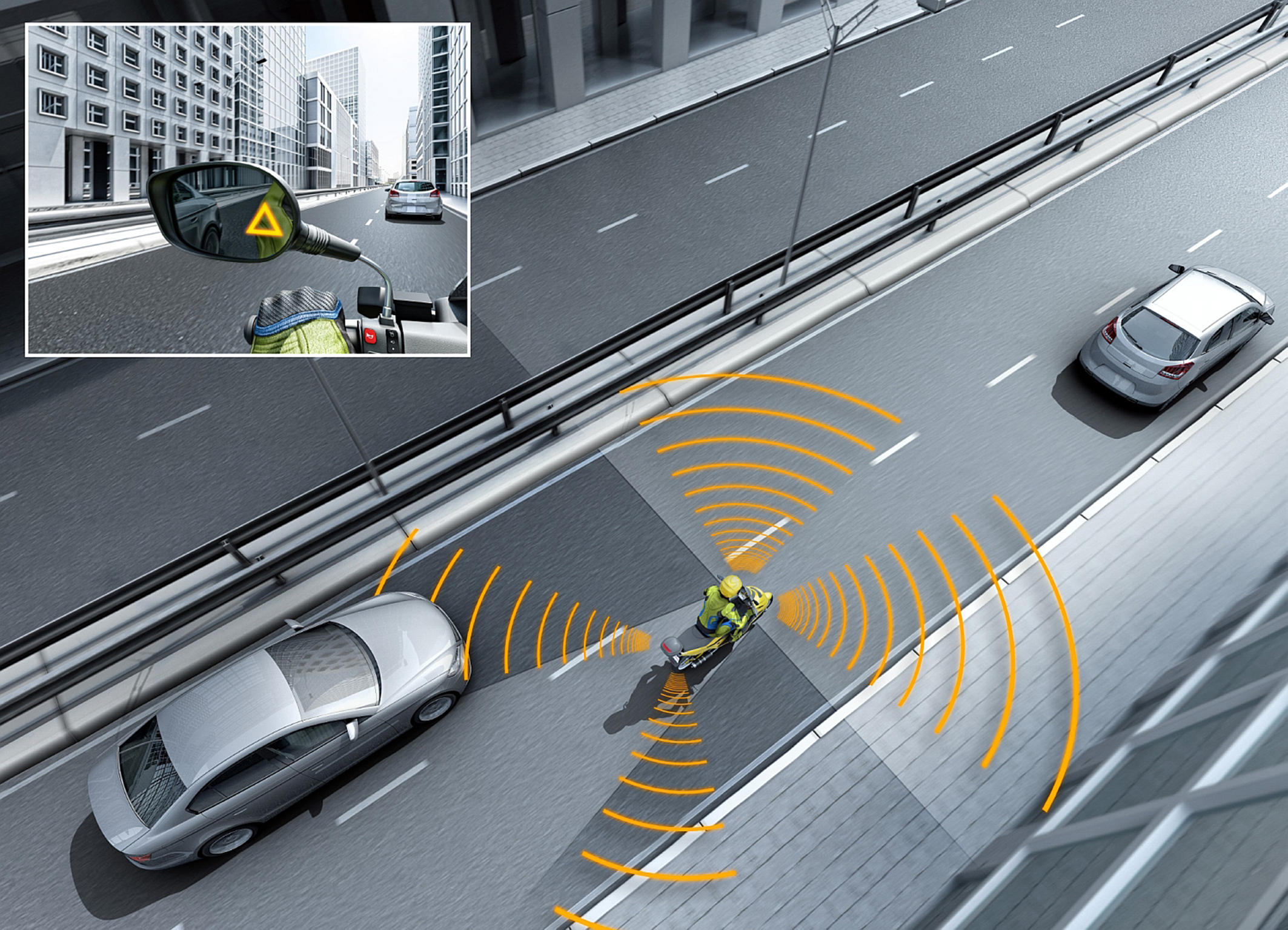 Bosch helps motorcyclists change lanes