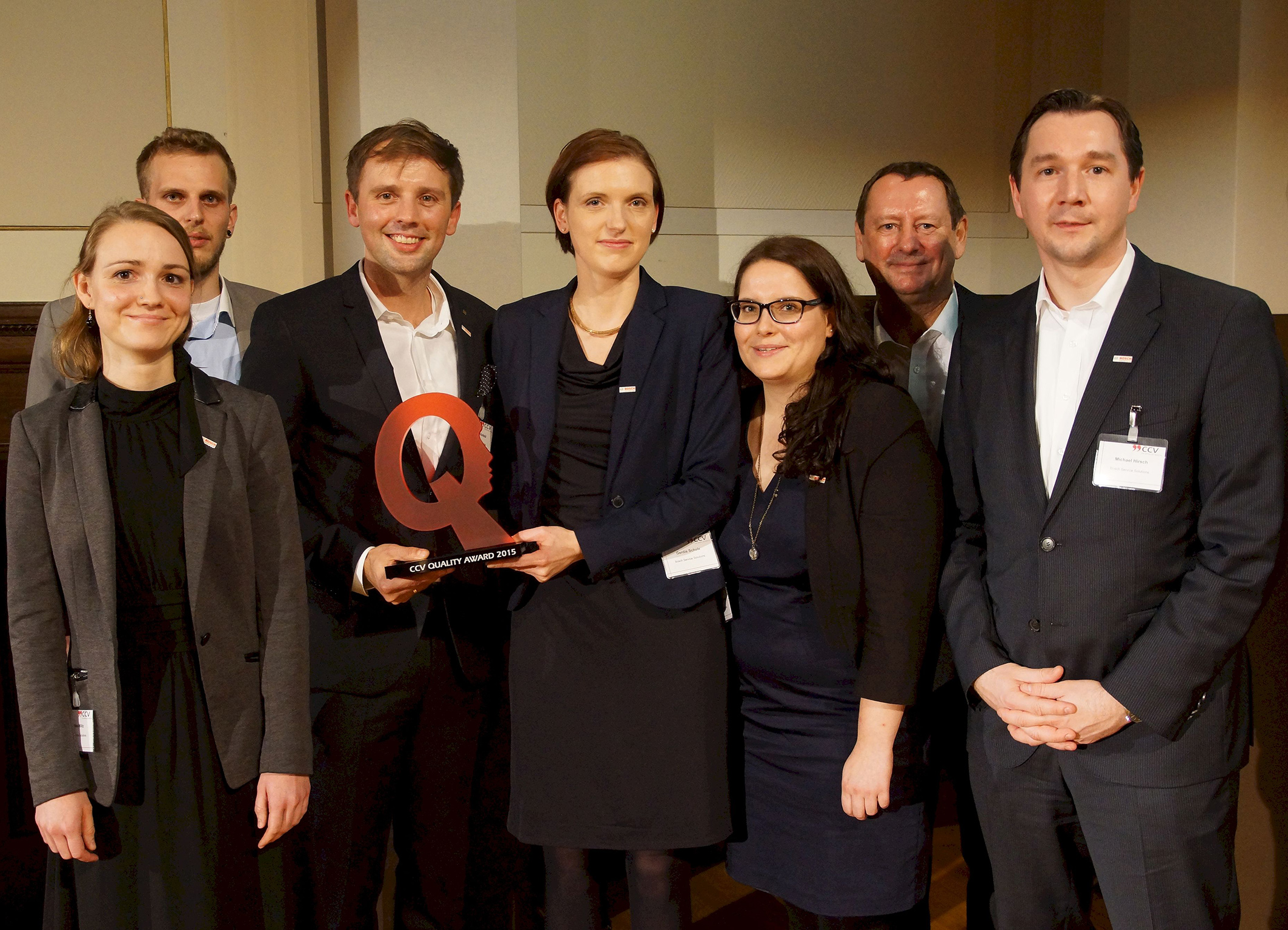 Bosch Service Solutions receives CCV Quality Award in the category Customer Satisfaction