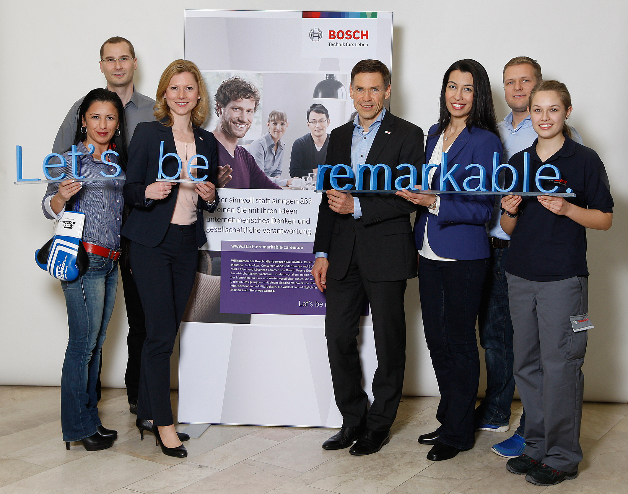 """Let's be remarkable"": a new look for Bosch as an employer"