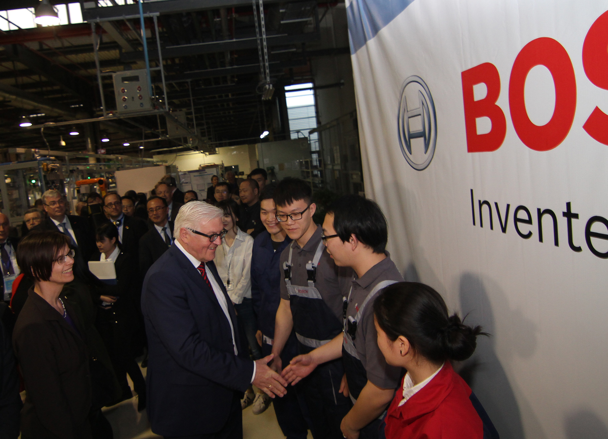 High-level visit at Bosch in China
