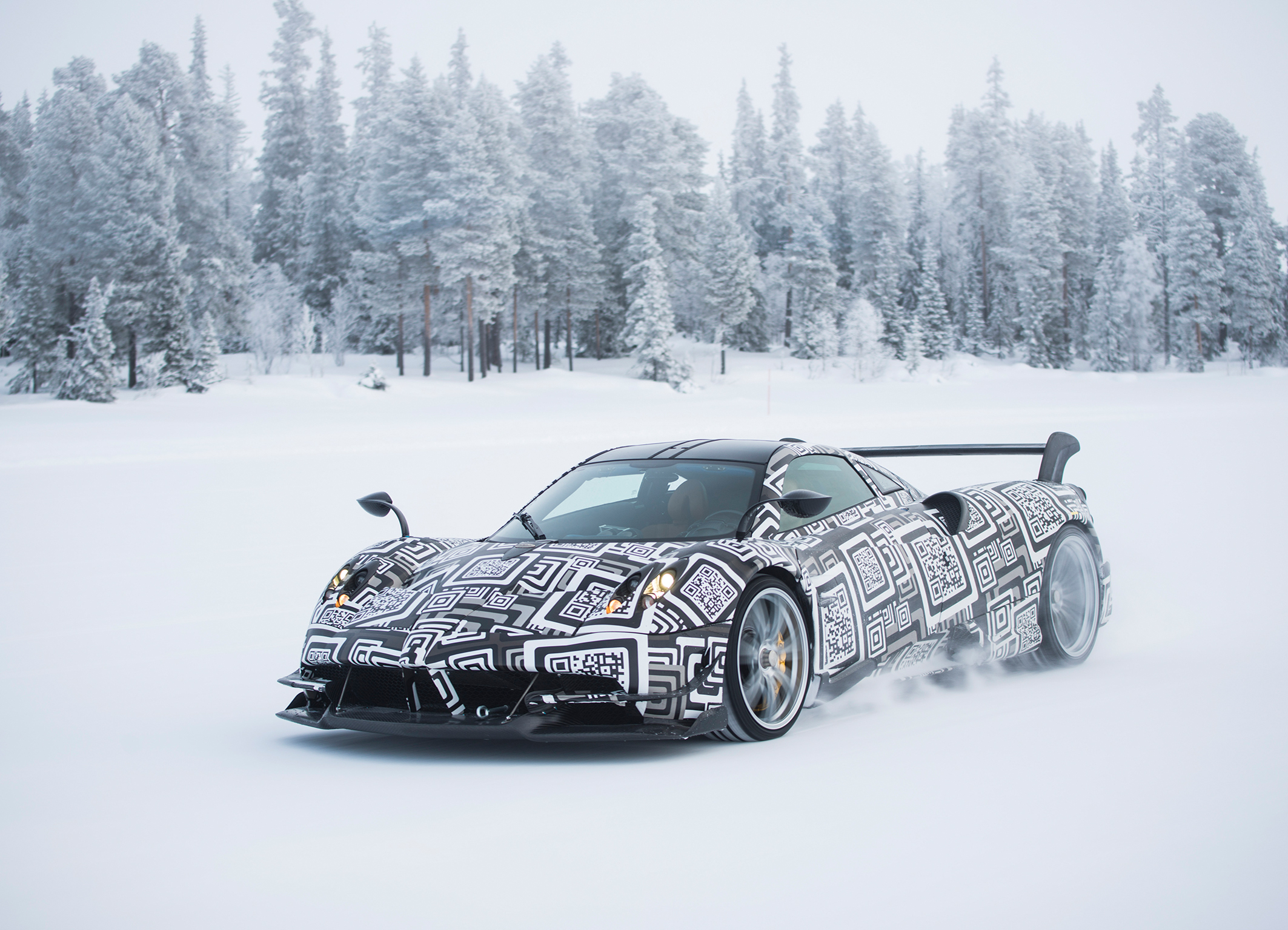 Bosch and Pagani test driving safety systems of the Huayra BC in the