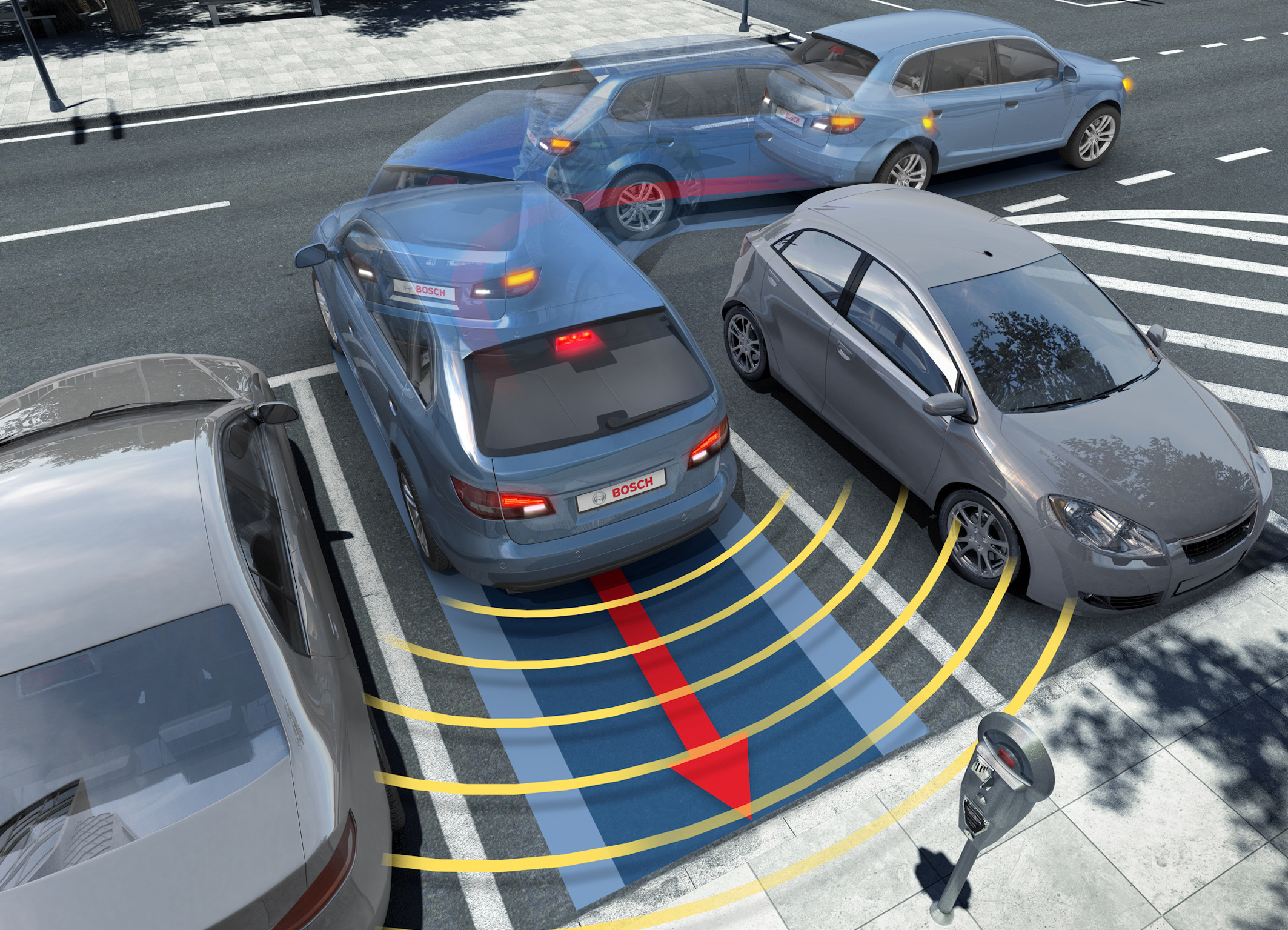 Bosch technology for bay parking