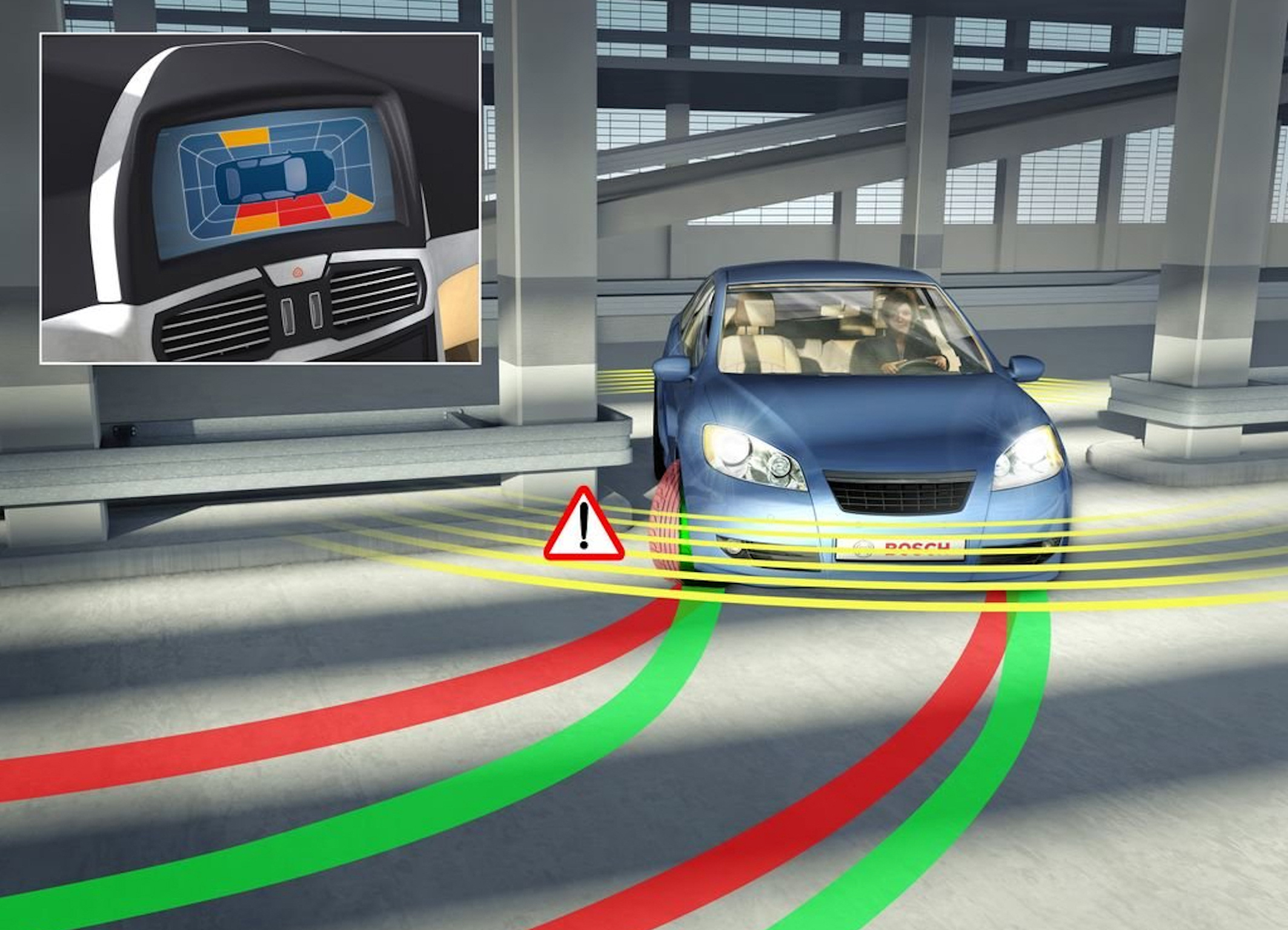 Bosch side distance warning function helps prevent costly damage to body work